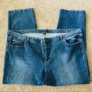 Chaps plus size jeans medium wash straight leg